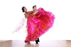 Dancers in ballroom isolated on white background Royalty Free Stock Photo