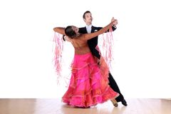 Dancers in ballroom isolated on white background Stock Photography