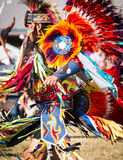Native American Dancers. Beautiful colors adorn this Native American costume at a Powwow in Houston Stock Photography