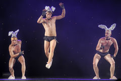 Dancers with bunny ears Stock Photos
