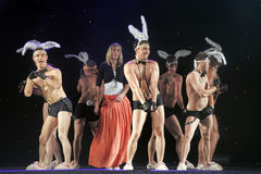 Dancers with bunny ears Stock Photo