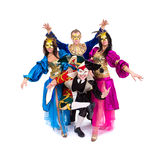 Dancers in carnival costumes Royalty Free Stock Photography