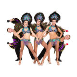 Dancers in carnival costumes Stock Images