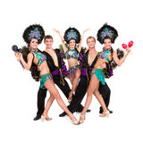 Dancers in carnival costumes posing Royalty Free Stock Photography