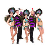 Dancers in carnival costumes posing Stock Image