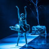 Dancers of Caro Dance Theatre perform on stage Royalty Free Stock Images
