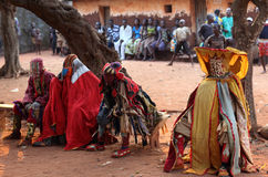 Dancers at an ceremony in Benin royalty free stock images