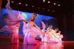 Dancers of the China Dance Troupe Royalty Free Stock Photos