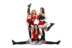 Dancers and Christmas Stock Photography