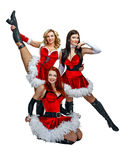 Dancers and Christmas Stock Photo
