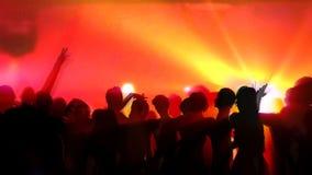 Dancers at Club stock video