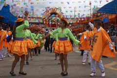 Dancers at the Oruro Carnival stock photos