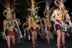 Dancers in costumes Carnival Royalty Free Stock Photos