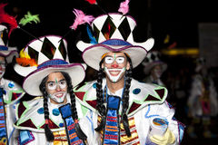 Dancers in costumes at the Grand Carnival Royalty Free Stock Photography