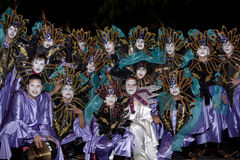 Dancers in costumes at the Grand Carnival Stock Photo