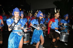 Dancers in costumes at the Grand Carnival Parade Royalty Free Stock Photography