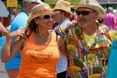 Dancers during Crawfish Festival Stock Images