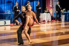 Dancers dancing latin dance Royalty Free Stock Image