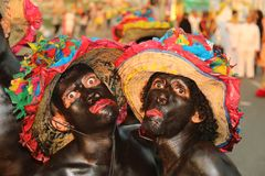 Dancers in a fiesta in Cartagena, Colombia Stock Image