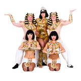Dancers dressed in Egyptian costumes posing Royalty Free Stock Photo