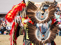 Native American Dancers. Dancers, Eagle feather costume from the Southwest of America. Original is every detail Royalty Free Stock Images