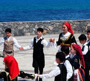 Dancers At Easter Celebration Heraklion Crete Greece Stock Photo