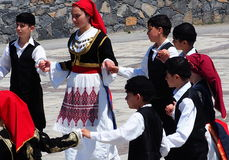 Dancers At Easter Celebration Heraklion Crete Greece Royalty Free Stock Photos