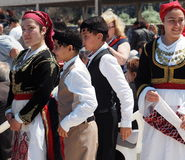 Dancers At Easter Celebration Heraklion Crete Greece Stock Photos