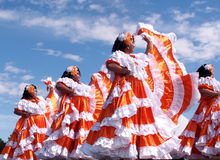 Dancers From El Salvador Stock Photography