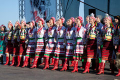 Dancers of Ensemble of Virsky Royalty Free Stock Photography