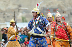 Dancers on Festival of Ladakh Heritage Royalty Free Stock Images