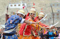 Dancers on Festival of Ladakh Heritage Royalty Free Stock Photography