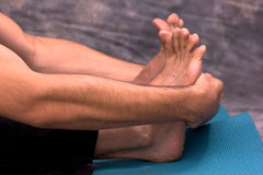 Dancers forearms and feet Stock Photo
