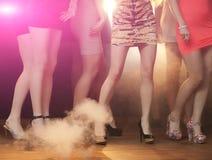 Dancers. Group of woman dancing at nightclub Stock Photos