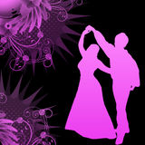Dancers with grunge vector. Lady and gentleman dancers with grunge background in vector format Royalty Free Stock Image