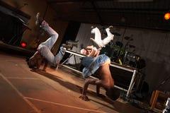 dancers hip hop three Στοκ φωτογραφία με δικαίωμα ελεύθερης χρήσης