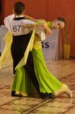 Dancers: Horatiu Berengea/ Madalina Floris Rosu. Horatiu Berengea/ Madalina Floris Rosu, 11th place at the Romanian National Dance Contest (Cupa Romaniei) Stock Photo