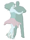 Dancers illustration. Illustration of man and woman dancing Stock Images