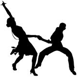 Dancers illustration Royalty Free Stock Image