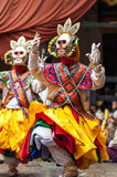 Dancers at Jakar Festival in Bhutan Stock Images