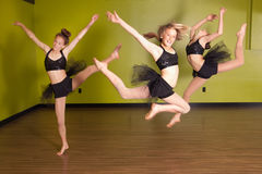 Dancers jumping Stock Photo