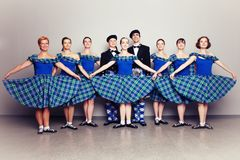 Dancers in kilts Royalty Free Stock Photo
