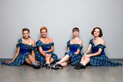 Dancers in kilts Stock Photography