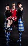 Dancers in kilts Stock Image