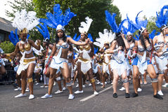 Dancers from the La Trinity float Royalty Free Stock Photo