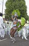 Dancers from the London School of Samba float Stock Images