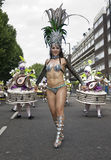 Dancers from the London School of Samba float Royalty Free Stock Photo
