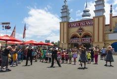 Dancers Luna Park Sydney Stock Image