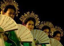 DANCERS OF LUWU DUKEDOM Royalty Free Stock Photo