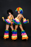 Dancers with maraca Royalty Free Stock Image